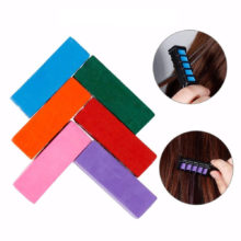 6 Colors Mini Chalks for Hair Professional Crayons for Hair Multicolor Color Dye Temporary Hair Dye Comb Hair Care Styling Tools