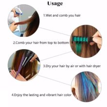 Professional Chalks with Comb for Temporary Hair Dyeing