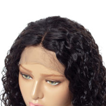 Short Curly Full Lace Human Hair Wigs For Women Brazilian Remy Hair Wig With 5inch Deep Parting Space Bleached Knots