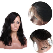 Brazilian Full Lace Human Hair Wigs For Women With Baby Hair Remy Human Hair 8-24Inch Natural Wave Wigs Free Parting 3.5inch