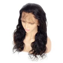 100% Brazilian Remy Hair Full Lace Wigs Body Wave Natural Color 130 / 150 / 180 Density Full Human Hair Lace Wig Bleached Knots