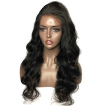 Glueless Full Lace Human Hair Wigs Wigs With Baby Hair Loose Body Wavy Peruvian Remy Human Hair Bleached Knots Pre-Plucked Hairl