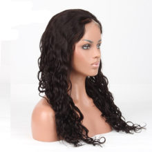 Luxurious Brazilian Loose Wave Full Lace Human Hair Wigs With Baby Hair Around 8-24Inch Remy Hair Natural Black Color