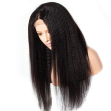 Celie 13x4 Kinky Straight Lace Front Wig 150 180 250 Density Lace Front Human Hair Wigs Pre Plucked Remy Brazilian Hair Wigs