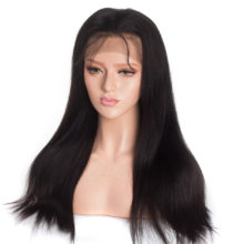Celie Lace Front Human Hair Wigs Pre Plucked With Baby Hair 180 250 Brazilian Straight Full Lace Human Hair Wigs For Black Woman