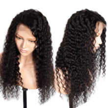 Celie Deep Curly Wave Lace Front Wig Brazilian Hair Pre Plucked With Baby Hair 150 180 250 Density Lace Front Human Hair Wigs