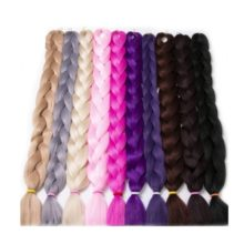 Synthetic Fiber Jumbo Braids Hair Extensions