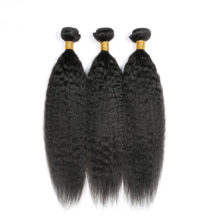 Raw Indian Kinky Straight Hair Bundles Human Hair Weave 3 Bundles Deal Coarse Yaki 8-30inch Non Remy Hair Extension