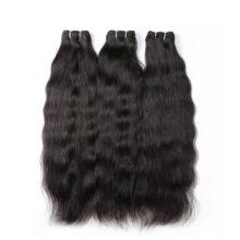 Hair Raw Indian Virgin Hair Weave Bundles 10-24 Inch Straight 3 Pc 100% Human Hair Extension Natural Color