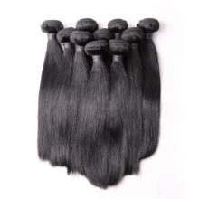 BAISI Hair,100% Unprocessed Human Hair Brazilian Remy Hair Straight Extension,Natural Color,8-28inch,10Bundles/Lot