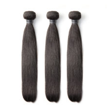 BAISI 8A Brazilian Human Straight Hair 3Pcs/Lot Nature Color 100% Human Hair Extensions , Free Shipping