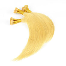 BAISI Hair Fusion human remy hair #1b #1 #4 #613 blonde color I-tip Straight Hair in 0.5g per strand,100 stands, 50g per lot.