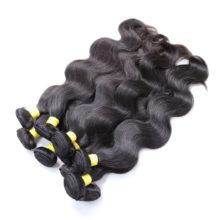 BAISI Hair Unprocessed Human Hair Peruvian Virgin Hair Body Wave Extension 8-30inch, Machine Double Weft Wholesale 10Bundles/Lot