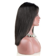 Baisi Hair 13*6 Lace Front Wigs Natural Color 1B# Straight 150% density Double Drawn Brazilian Human Hair Bobo Wig