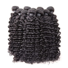 BAISI Hair Brazilian Remy Hair Deep Wave Machine Double Weft 100% Human Hair Weaving Nature Color 10Bundles/Lot