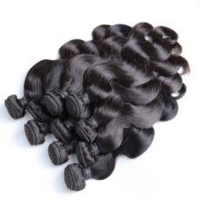 BAISI Hair Unprocessed Human Hair Brazilian Remy Hair Body Wave Extension 8-28inch, Machine Double Weft 10Bundles/Lot