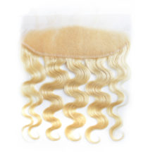 BAISI Brazilian Body Wave Blonde 613# Color Remy human Hair Lace Frontal  Pre-Plucked Nature Hairline Free Shipping