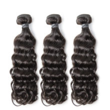 BAISI Brazilian Water Wave Remy Hair Extension, 10-26inch, 3Pcs/Lot, 100% Human Hair Bundles Natural Color, Free Shipping