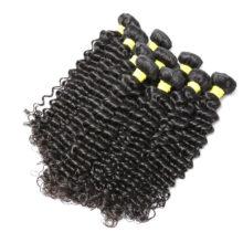 BAISI Hair Peruvian Virgin Hair Deep Wave Machine Double Weft 100% Human Hair Weaving Nature Color Wholesale 10Bundles/Lot