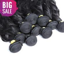 BAISI Hair 100% Unprocessed Peruvian Virgin Hair Water Wave, Human Hair Bundles Natural Color Wholesale 10Bundles/Lot