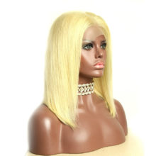 Baisi Hair 13*4 Bobo wig  Lace Front Human Hair Wigs Natural Color,613# Color Straight Brazilian Hair Flash Deal