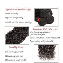 Code Calla Water Wave Brazilian Hair Bundles 1/3/4 Pcs 100% Unprocessed Raw Virgin Human Hair Extensions Natural Black 1B Color