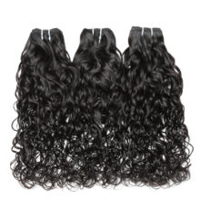 Code Calla Malaysian Raw Virgin Human Hair Extension Water Wave Bundles With Frontal 13*4 Lace Closure Natural Color For Women