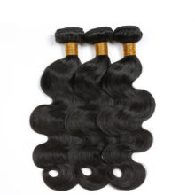 Code Calla Malaysian Raw Virgin Human Hair Extensions 3/4 Weft Body Wave Bundles With 13*4 Lace Frontal Closure Natural Black