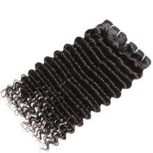 Code Calla Hair Deep Wave Brazilian Raw Virgin Human Hair Weft 3 Bundles Deal Hair Weave Natural Black 1B Color For Women