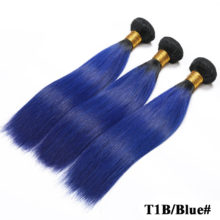 Code Calla Ombre 1B/30 Blue Red Color Straight Hair Short Bundles 100% Raw Malaysian Virgin Human Hair Weft Bundles Extensions