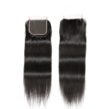 Code Calla Brazilian Straight Remy Human Hair Free/Middle/Three Part 4 x 4 Lace Closure 8