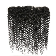 Code Calla Brazilain Afro Kinky Curly 13*4 Ear to Ear Lace Frontal Closure Free Part Remy Human Hair 130% Density Free Shipping