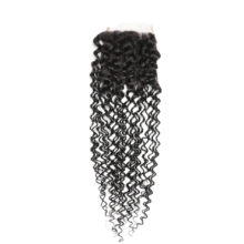 Code Calla Afro Kinky Curly Brazilian Lace Closure Remy Hair 4*4 Closure 100% Human Hair Natural Color 8-20 Inch Free Shipping