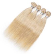 AISI HAIR 613 Blonde Human Straight Hair Bundles 1 PCS Honey Blonde Bundles Peruvian Non-Remy Hair Weave 100% Human Hair Weave