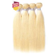 VIOLET Peruvian Remy Straight Hair 1/3/4 Bundles 613 Honey Blonde Bundle Human Hair Weave Bundles Hair Extensions