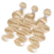 AISI HAIR Peruvian 613 Body Wave Bundles Non Remy 100% Human Hair Extensions Long Blonde Human Hair Weave 10-26 Inches