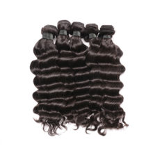 Ali Queen Hair Products Peruvian Hair Weave Bundles 10Pcs/lot Loose Deep 100% Human Hair Weaving Natural Color Remy Hair