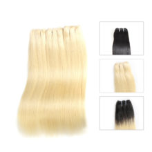 Hair Products Brazilian Straight Hair Bundles 3 Piece Blonde 613/Natural Black/1b-613 Human Hair Weave Virgin Hair