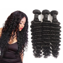 Soph Queen Hair Brazilian Virgin Hair Bundles With Closure Deep Wave Hair Weave Bundles With Closure Human Hair Natural Color