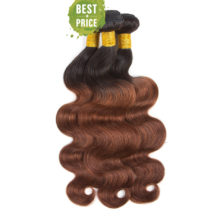 Soph queen Peruvian Body Wave Bundles With Closure Pre-Colored T1B/33 Human Hair Bundles With Closure 4pcs/pack