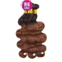 Soph queen Brazilian Body Wave Bundles With Closure Pre-Colored T1B/33 Human Hair Bundles With Closure 4pcs/pack