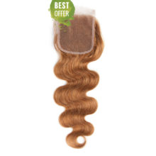 Soph queen Body Wave Pre-Colored #30 Malaysia Remy 100% Human Hair Blonde Bundles With Closure 4pcs/pack