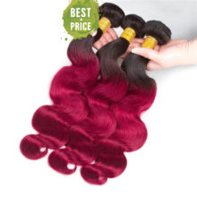 Body Wave Bundles With Closure Pre-Colored T1B/bug Brazilian Human Hair Bundles With Closure 4pcs/pack