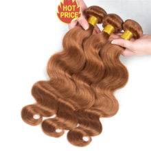 Body Wave Blonde Bundles With Closure Pre-Colored #30 Peruvian Remy 100% Human Hair 4pcs/pack