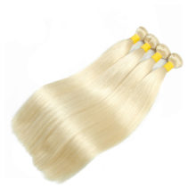 Soph queen Peruvian #613 Blonde 4 Bundles Straight 100% Human Hair Extensions Non-Remy Hair No Smell