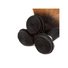 Brazilian Hair T1B/30 Straight 100% Human Hair Blonde One Bundles 8-24 Inch Remy Hair No Smell Extensions