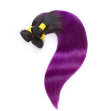 Brazilian Hair T1B/Pur Straight 1 Bundles 100% Human Hair Remy Hair No Smell Extensions