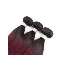 Soph queen Hair Pre-Colored T1B/99J Peruvian Straight Wave Bundles 100% Human Hair Bundles 8A Grade Can Be Dye