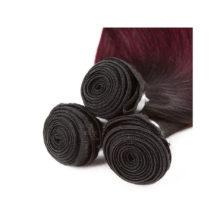 Soph queen Hair Pre-Colored T1B/99J Brazilian Straight Wave Bundles 100% Human Hair Bundles 8A Grade Can Be Dye