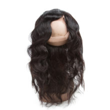 Hair 360 Lace Frontal With Bundle Brazilian Remy Human Hair Body Wave Hair Weave Bundles With Closure Hair Extensions